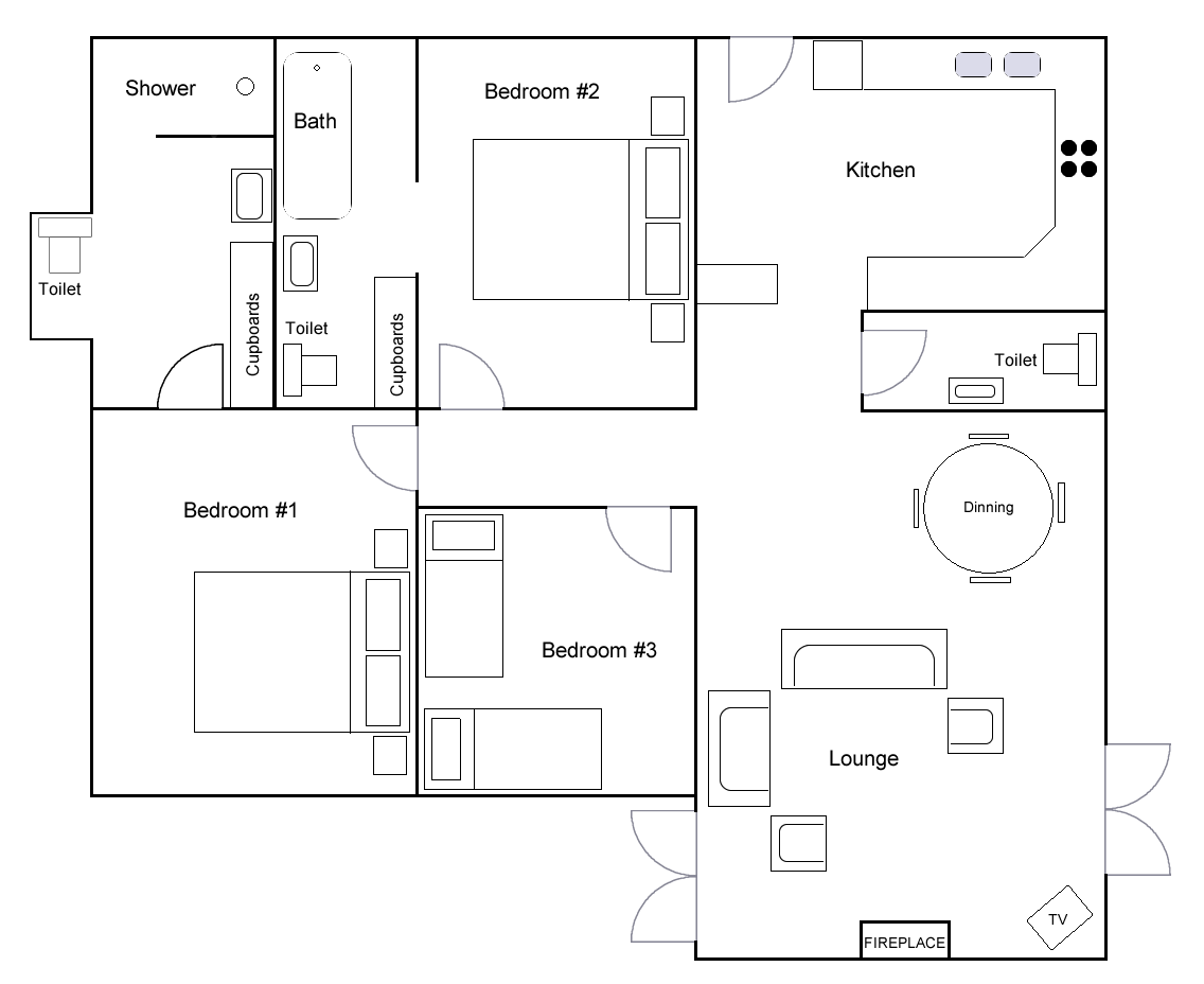 Rose Cottage Floor Plan